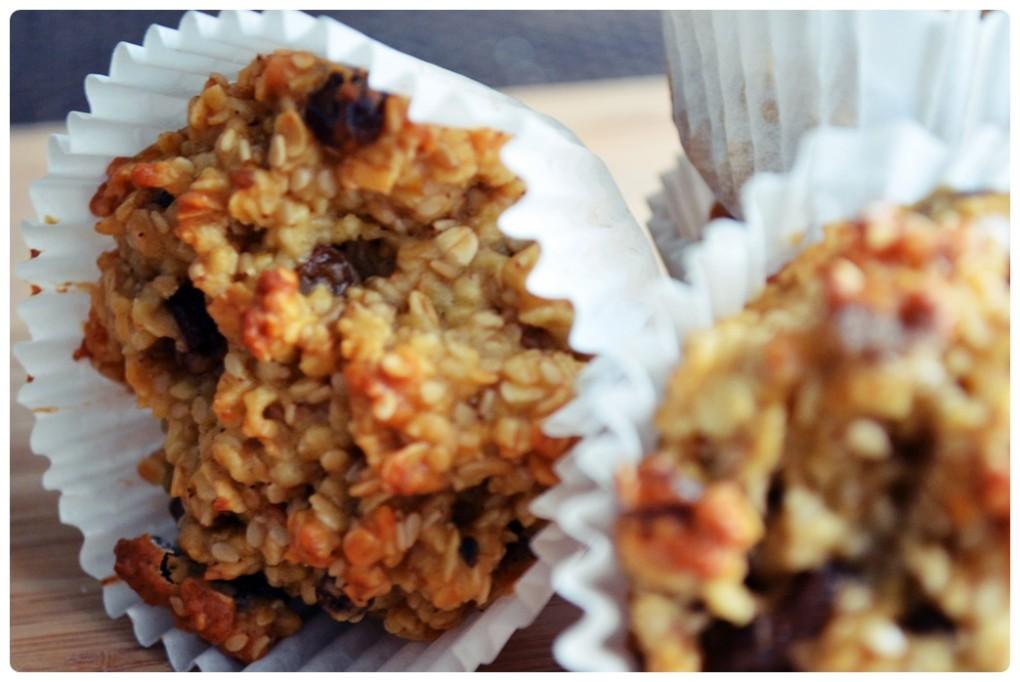 Muffiny pełne energii z płatkami owsianymi i bakaliami