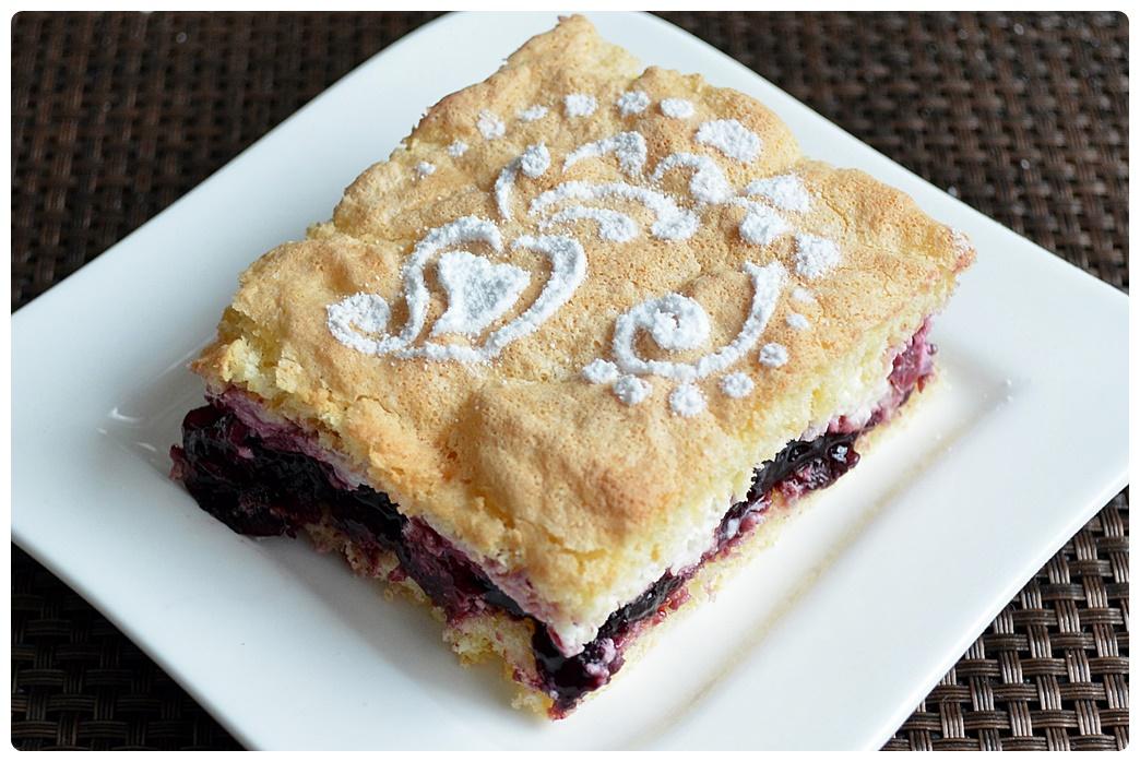 Ciasto bardzo mocno wiśniowe