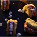 Ciastka na Halloween – szczęki wampira